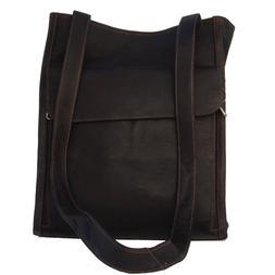 Piel Leather Shoulder Tote Organizer - Chocolate