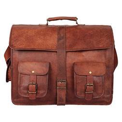 Leather Vintage Rustic Crossbody Messenger Courier Satchel B