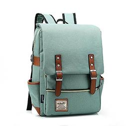 "Unisex Light Green Business 15.6"" Laptop Backpack Casual Bag"