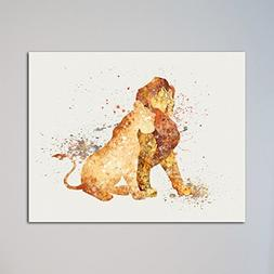 "The Lion King Simba and Nala 11"" x 14"" Print"