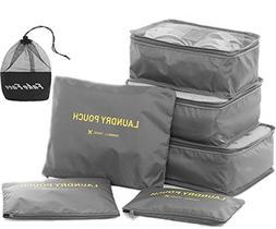 Travel Luggage Organizer Packing Cubes,6 Pcs Travel Essentia