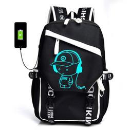 Luminous Anti Theft Backpack Bookbag Cool School Shoulder Ba