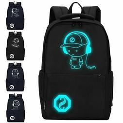 Luminous Schoolbag Anime School Backpack Laptop Bag Boys Gir
