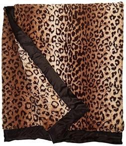 "Giraffe At Home Luxe Leopard Throw, 45 x 59"", Espresso"