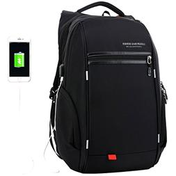 LUXUR Nylon Waterproof Laptop Backpack Casual School Busines