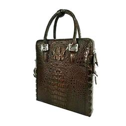 CROCUST Luxury Crocodile Skin Men's Briefcase Crocodile Leat
