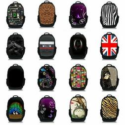 "Many Designs 15.6"" Netbook Laptop Travel Backpack School Bag"