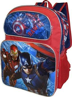 "Marvel Captain America Deluxe 3D Embossed 16"" School Bag Bac"