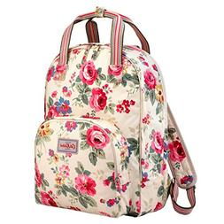 Cath Kidston Matt Oilcloth Multi Pocket Backpack Rucksack Cl
