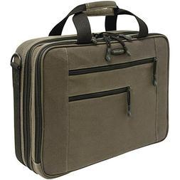 "MOBILE EDGE MECBC9 16"""" PC/17"""" MacBook Canvas ECO Briefcase"
