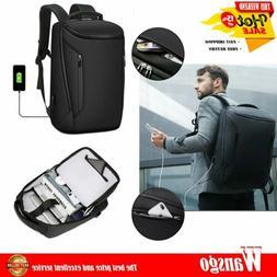 Men 15.6'' Laptop Backpack Anti-Thief Waterproof USB Travel