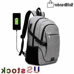 Men Anti theft Laptop Backpack USB Charging Travel Shoulder