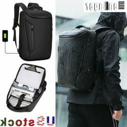 Men Anti-Thief 15.6'' Laptop Backpack Waterproof USB Travel