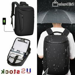 Men Anti-Thief 15.6'' USB Laptop Backpack Waterproof Travel