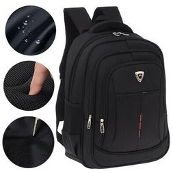 "Men Backpack 17"" Laptop Rucksack Shoulder Business Work Trav"