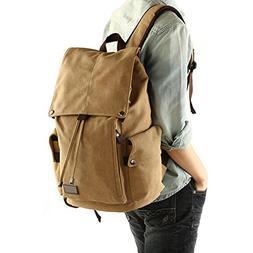 Huluwa Men's Backpack Canvas Vintage Backpack Men Rucksack T