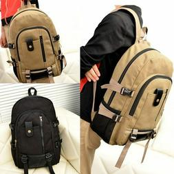 Men Canvas Backpack Rucksack Travel Sport Hiking Schoolbag L
