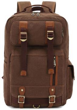 KAUKKO Men Casual Laptop Backpacks 15.6'' Fashion Notebook R