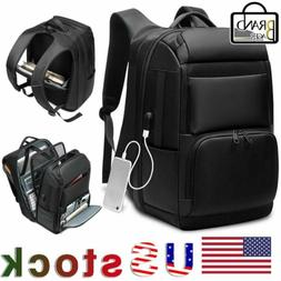 Men Extra Large 17'' Inch Laptop Backpack Travel USB Chargin