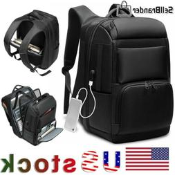 Men Extra Large Travel USB Charging Backpack 17'' Inch Lapto