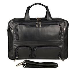 Texbo Men's Genuine Leather Business Trip Briefcase Large Ba