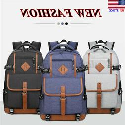 Men Large Waterproof Backpack Laptop Handbag Shoulder Bag Ha