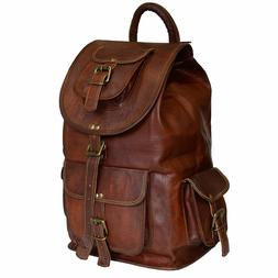 Men's and Women's Genuine Daypack Leather Backpack Laptop  R