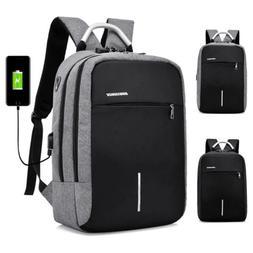 Men's Anti-Theft Password Lock Backpack USB Charging Laptop