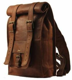 Men's Leather Backpack Bag Rucksack Messenger Laptop Satchel