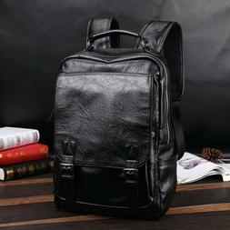 Men's Leather Backpack Shoulder Bag Weekender Travel Laptop
