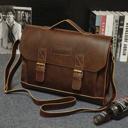 93a22a41ea51 Men s Leather Messenger Shoulder Bags Business Work Briefcas