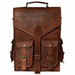 New Real genuine leather Satchel Men Backpack Bag laptop bri