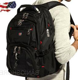 "Men's Rucksack Notebook 15.6"" Laptop Backpack Shoulder Hikin"