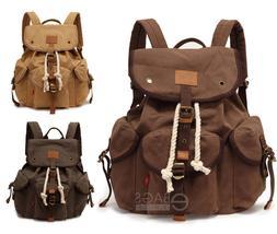 Men's Travel Canvas Tactical Backpack Laptop Sport Shoulder