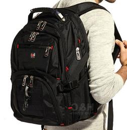 "Men's Travel Sport Rucksack 15"" Laptop Backpack Shoulder Swi"