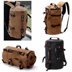 Men's Vintage Canvas Backpack Rucksack Laptop Shoulder Trave
