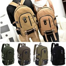 Men's Vintage Canvas Backpack Travel Sport Rucksack Satchel
