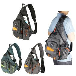 Men's Women's Large Canvas Nylon Laptop Sling Bag Backpack S
