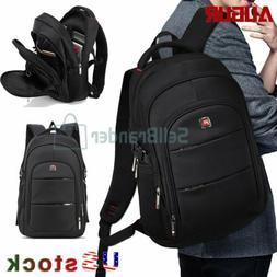 "AUGUR Men Travel 17"" Laptop USB Swiss Backpack School Bag Hi"