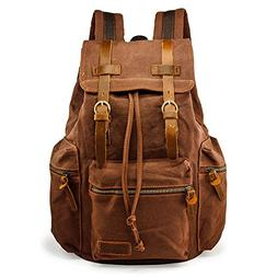 Men's Outdoor Sport Vintage Canvas Military BackBag Shoulder