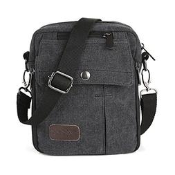 Zicac Men's Small Vintage Multipurpose Canvas Shoulder Bag M