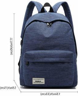 Men Black Laptop Backpack Business School Rucksack Casual Sp