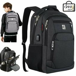 """Men Women 15.6"""" Laptop Backpack Large USB Charging Travel Wa"""