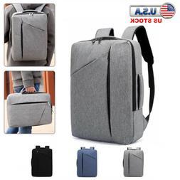 """Men Women 15.6"""" Laptop Backpack School Bag Notebook Rucksack"""