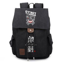 Men Women Anime Tokyo Ghoul Canvas Laptop Backpack School Ba
