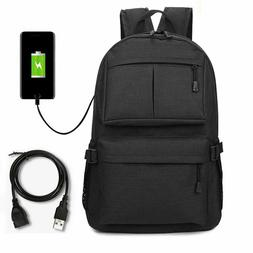 Men Women Anti-theft Laptop Notebook Backpack +USB Charging