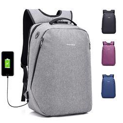 men women anti theft travel backpack usb