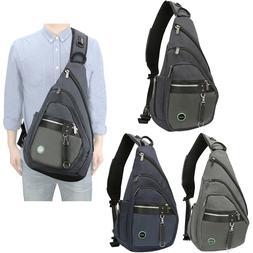 Men Women Large Sling Bag Backpack Chest Shoulder School Lap