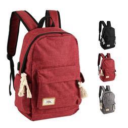 Men Women Shoulder Canvas Rucksack Backpack School Travel La