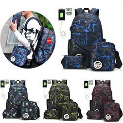 men women usb port backpack laptop travel